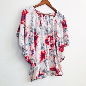 CAbi 'The Gypsy' 100% silk floral top - XS